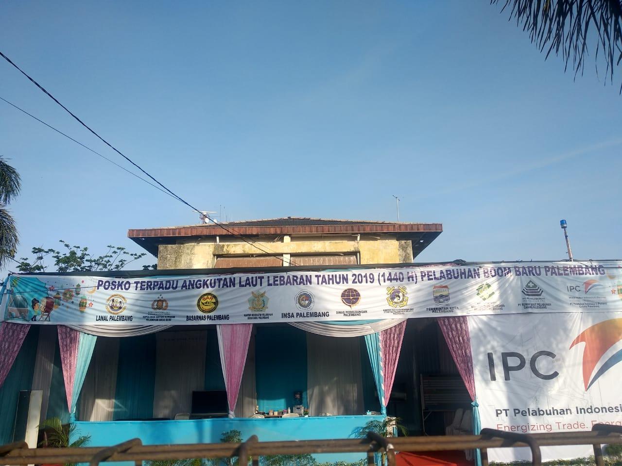 Posko Terpadu Arus Mudik di Pelabuhan Boom Baru Palembang Tahun 2019