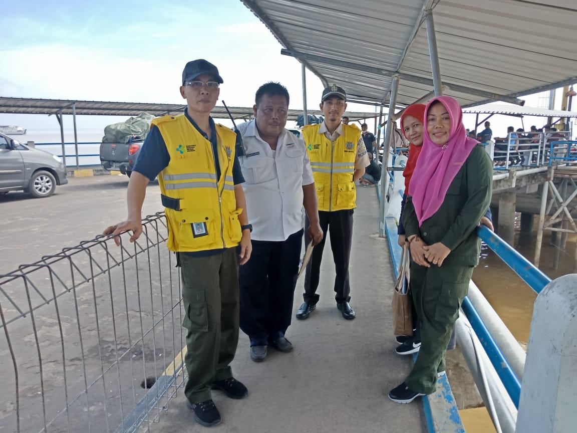Pemantauan Arus Mudik 1440 H/2019 M di Pelabuhan Tanjung Api Api