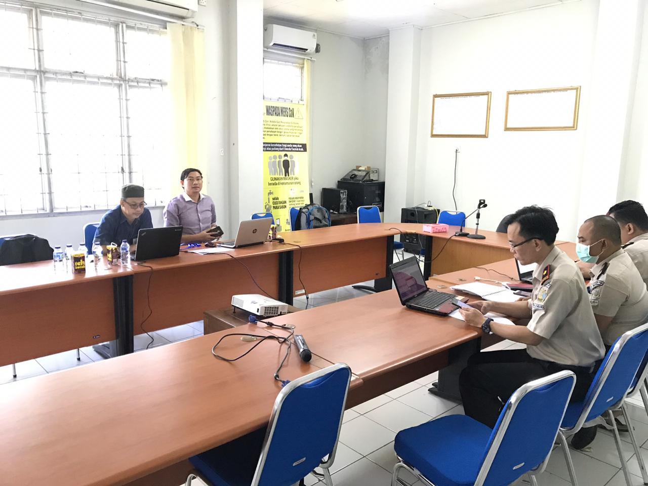 Untuk Meningkatkan Penyerapan Anggaran, Itjend Kemenkes RI Melakukan Evaluasi di KKP Palembang