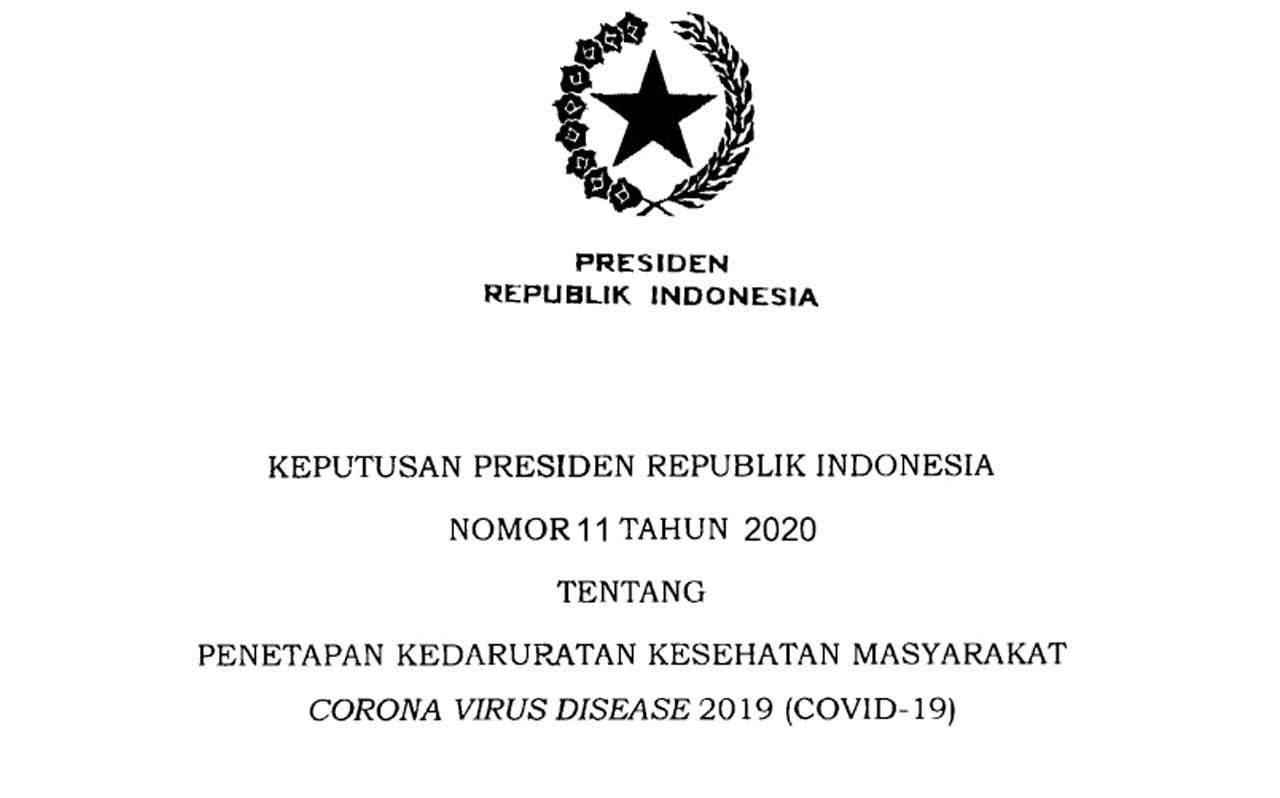 Penetapan Kedaruratan Kesehatan Masyarakat Corona Virus Disease (Covid-19)